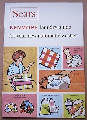 Vintage 1967 Kenmore Washer Laundry Guide;parts List;wiring; Agitator Warranty
