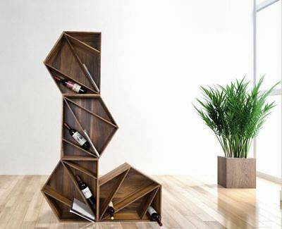 Wood Bookshelf Magazine Wine Holder Display Rack Storage Shelf Furniture Cabinet