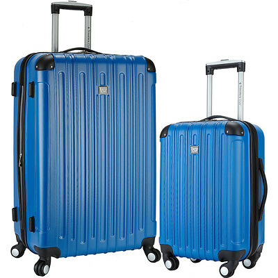 Travelers Club Luggage Madison 2 Piece 2-in-1 Hardside Hardside Checked NEW