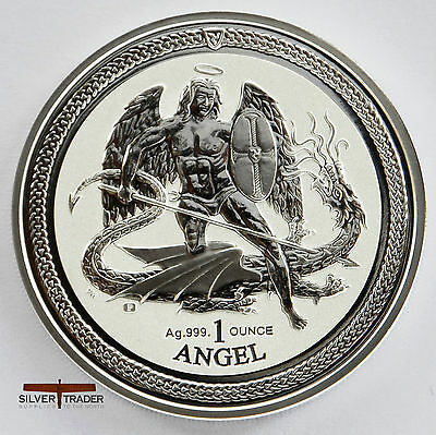 2016 1oz Angel Isle of Man 1 ounce silver bullion coin unc: