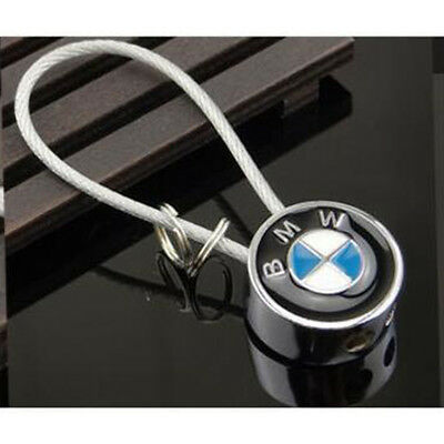 1PCS CAR Auto LOGO Key Chain Metal Double Sided Steel Wire Rope for BMW X3 X5