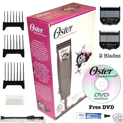 Oster Pivot Motor 616 SoftTouch 220V Professional Clipper 2 Blades 76616-507