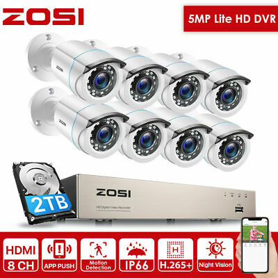 ZOSI CCTV Security Camera 1080P HDMI 8CH DVR Video Home Outdoor IP System 2TB