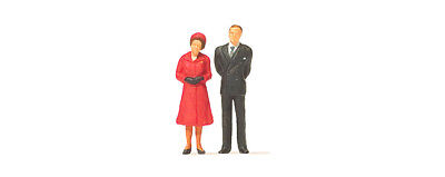 HO Scale People - HM The Queen and Prince Philip