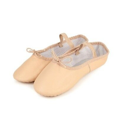 Leather Ballet Shoes Full or Split Sole Pink Childrens Adult