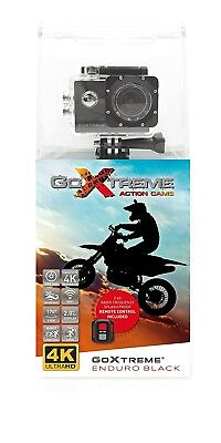 'GoXtreme Enduro Black Action Camera 4 K, Real 2,7 K at 30fps, Full HD to