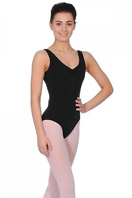 (Black, Small) - Freed of London Bethany Ladies Tank Leotard. Shipping is Free