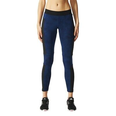 (Large, Blue/Azumis/Maruni) - adidas Women's Marble Tight Leggins. Huge Saving