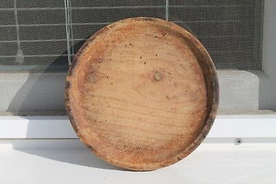 Antique Primitive Old Hand Carved Wooden Bread Board Plate