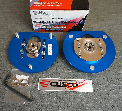 CUSCO Adjustable Pillowball Rear Upper Mounts Camber Plates for Impreza Forester