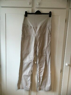 H&M Mama Maternity Beige Trousers Size M