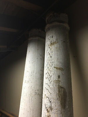 Antique Solid Wood Doric Columns Circa 1900