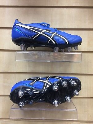 Men's Asics Lethal Charge Rugby Boot Brand New Uk 8 Blue Black