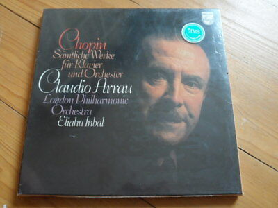 Chopin-Complete Works for Piano...Claudio Arrau-Sealed-3er Lp Box Philips