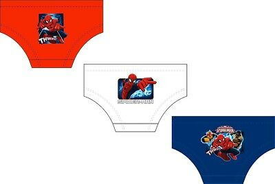 Kids Boys Childrens 3 Pack Ultimate Spiderman Underwear Pants Briefs Size 2-8 Y