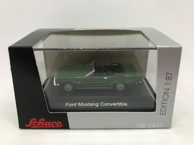 Schuco Ford Mustang Convertible Scale 1:87 Green HO in Acrylic Display Case
