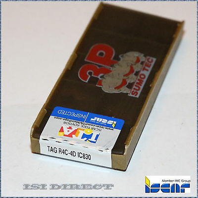 Tag R4C 4D Ic830 Iscar *** 10 Inserts *** Factory Pack ***