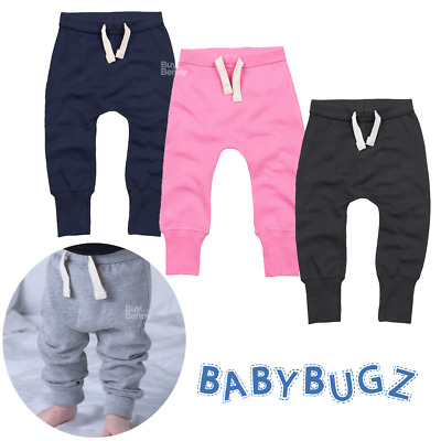 Baby Sweatpants Supersoft Bottoms Brushed Fleece Comfort Loose Fit Elastic Waist