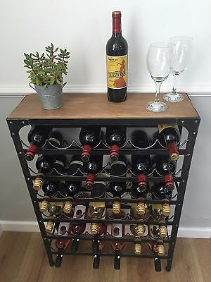 36 bottle Wine Rack, Pewter colour finish