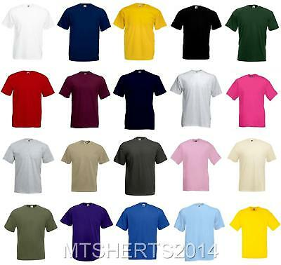 Fruit of The Loom Plain Blank Cotton T Shirt Tops Mens Ladies All Size BENCH