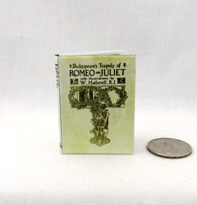 ROMEO AND JULIET 1:6 Scale Book Readable Illustrated Miniature Book Shakespeare