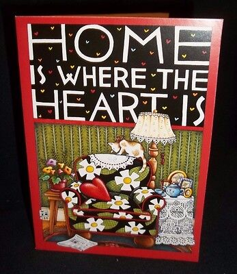 """Mary Engelbreit blank note card w/envelope """"Home is where the heart is"""""""