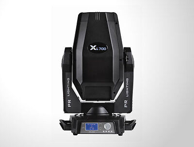 PR XL700 Moving Spot with single PR front/top opening road case.