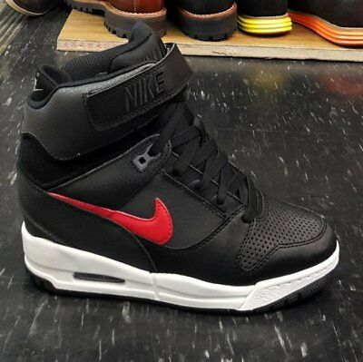 a9d9a7e9b32199 NIKE AIR REVOLUTION SKY HI BLACK RED HIdden Wedge 599410-020 NEW WITHOUT BOX