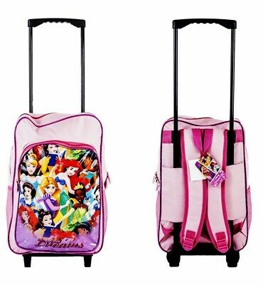 (Princess) - New Children's Character Deluxe Wheeled Trolley Suitcase-Back