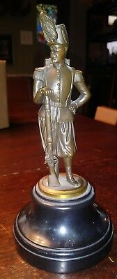 19th CENTURY BRONZE STATUE OF BRITISH SOLDIER ON ONYX PLINTH