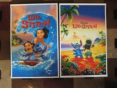"""Lilo & Stitch (11"""" x 17"""") Movie Collector's Poster Prints ( Set of 2 )"""