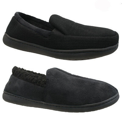 Mens Comfort Flat Warm Casual Slippers Shoes Slip On Driving Walking Winter Size
