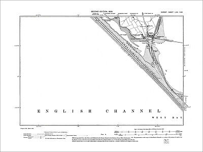Portland Harbour, old map Dorset 1903: 58NW