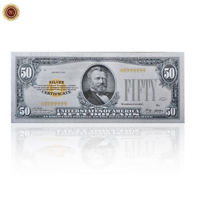 WR US $50 Fifty Dollar Bill Note 1928 Silver Banknote Money Rare Collection