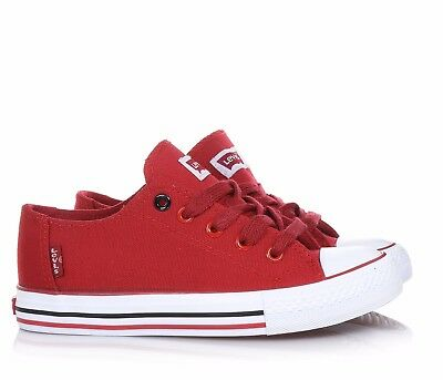 LEVI'S - Chaussure lace-up red fabric Baby Boy