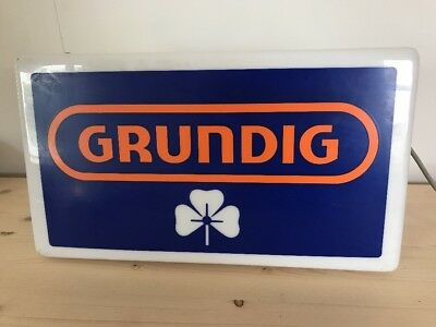 Grundig Shop Sign - ( Lights Up ) - Radio / Tape Recorder