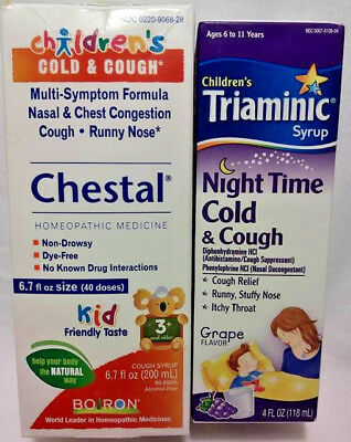 Triaminic Childrens Syrup Day Time Night Time Cold Cough Combo