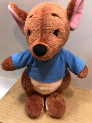 Disney Parks Winnie the Pooh Roo Kangaroo w/ Blue Sweater Plush Stuffed Toy