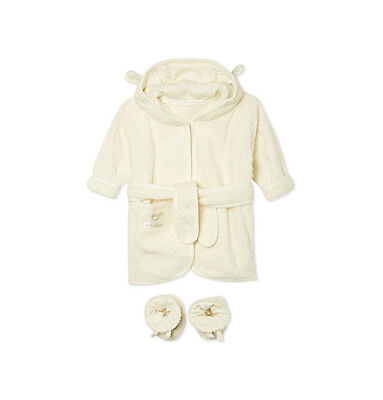Natures Purest - Organic Pure Love Baby Bathrobe & Slippers Gift Set (10251)