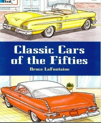 Adult Coloring Book Classic Design Cars Pattern Stress Relief Fun Relaxing