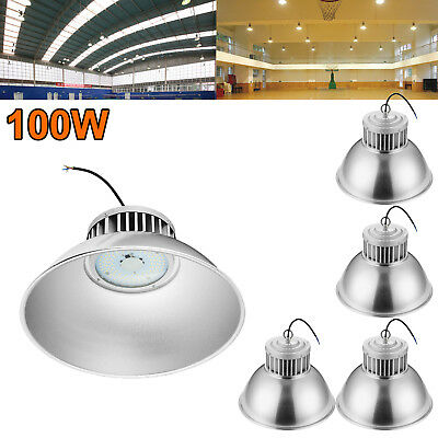 5X 100W LED High Bay Light Super Bright Fixture Warehouse Shop Gym Industry Lamp