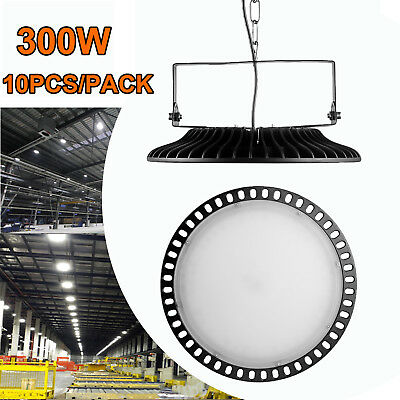 10X 300W Ultra-Thin UFO LED High Bay Light Factory Industrial Commercial Lamp