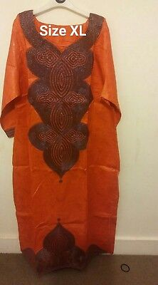 african embroidery dress size large