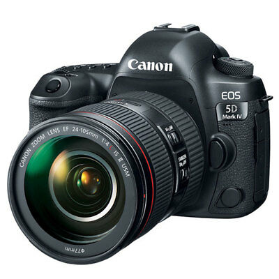 Canon EOS 5D Mark IV DSLR Camera with EF 24-105mm f/4L IS II USM Lens - New!