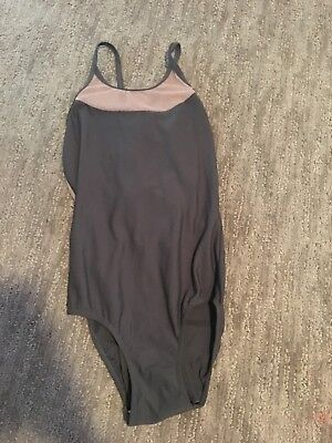 gray/ pink mesh eleve leotard size small