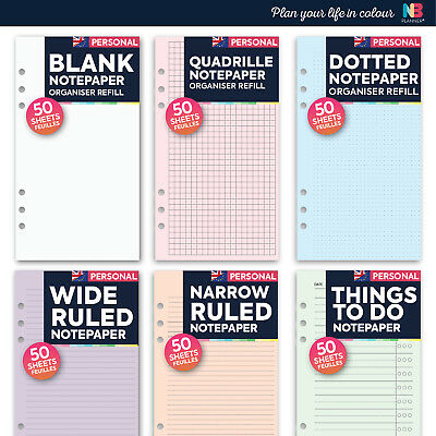 NBplanner® Refill Ruled To Do Dotted FILOFAX Personal organiser COMPATIBLE
