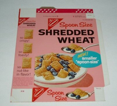 1960's Nabisco Spoonsize Shredded Wheat cereal box - vintage product