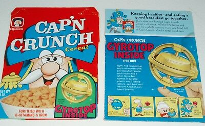 1970's CAP'N CRUNCH Cereal Box panels w/ GYROTOP premium offer
