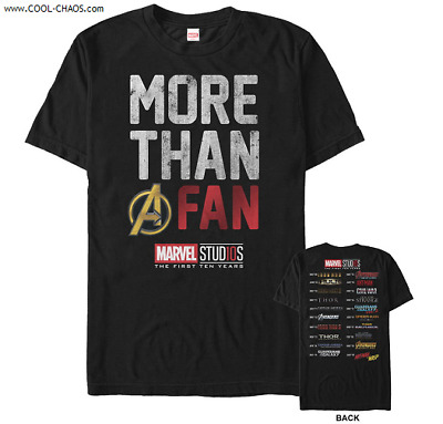 Marvel Fan T-Shirt / Marvel Studios 10 year Anniversary Tee,Sold only til 2-25!