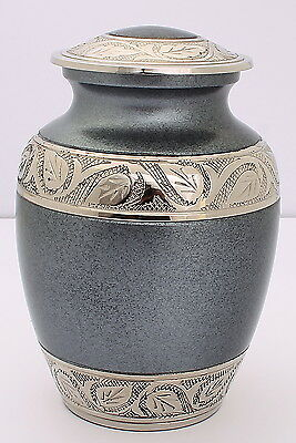 """Cremation Urn For Ashes, Funeral Memorial 6"""" urn  child Grey  Container Reduced"""